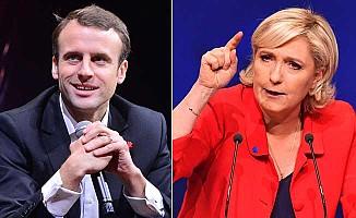 Fransa'da ikinci turda Macron ve Le Pen yarışacak