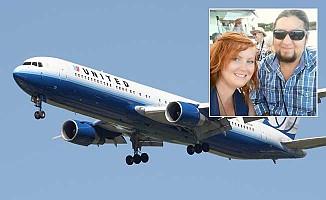 United Havayolları, nişanlı çifti uçaktan attı