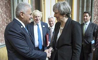 Yıldırım, İngiliz Başbakan May ile biraraya geldi