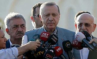 Bayram namazında rahatsızlanan Erdoğan'dan ilk açıklama
