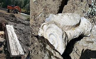Baraj inşaatında tarihi kalıntılar bulundu