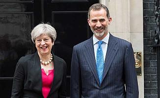 Başbakan May, İspanya Kralı 6. Felipe'yi ağırladı