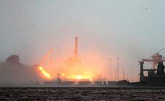 Haydarpaşa Limanı'nda yangın!