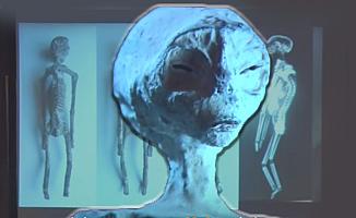 Uzaylıya ait olduğu iddia edilen bir mumya bulundu