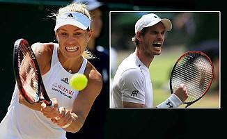 Wimbledon'da Kerber ve Nadal elendi