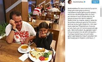 İbrahim Tatlıses Suriyeli küçük kıza yemek