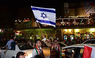 Erbil'de İsrail bayraklı kutlama