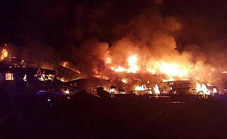 Kuzey Londra'da büyük yangın