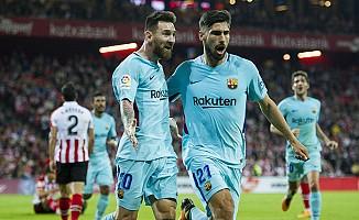 Barcelona, Athletic Bilbao'yu 2 golle geçti