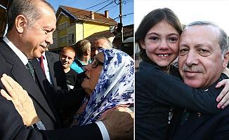 Erdoğan'a Sırbistan'da sevgi halesi