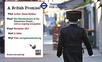 Filistin Posterine Londra'da Yasak