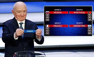 FİFA Dünya Kupası'nda gruplar belli oldu