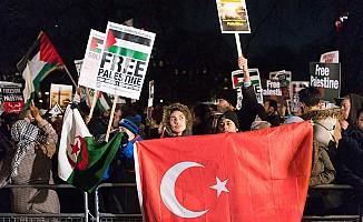 Londra'da ABD'nin 'Kudüs' kararına protesto
