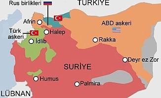 """Afrin bölgesinde """"Zeytin Dalı Harekatı"""" başlatıldı"""