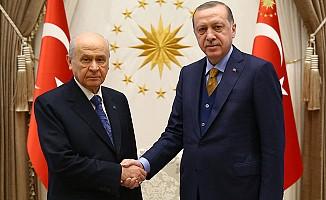 Erdoğan, Bahçeli görüşmesi Külliye'de gerçekleşti