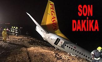 Pegasus uçağı pistten çıktı, havalimanı uçuşa kapatıldı