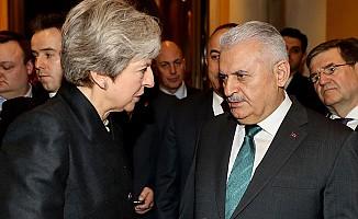Başbakan Yıldırım, May ile görüştü