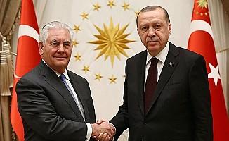 Erdoğan, Tillerson'a Türkiye'nin tüm beklentilerini iletti
