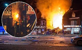 Leicester'da patlama çok sayıda yaralı var