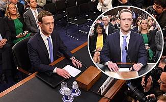 Facebook'un Patronu Zuckerberg ABD Senatosunda ifade verdi