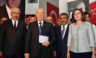 MHP Lideri Bahçeli Başvurusunu Yaptı