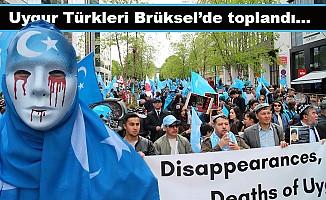 Uygurlara yönelik baskılar Brüksel'de protesto edildi