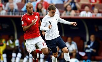 Fransa ile Danimarka Dünya Kupasında son 16'ya yükseldi