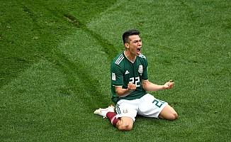 Meksika, son şampiyon Almanya karşısında 1-0 öne geçti