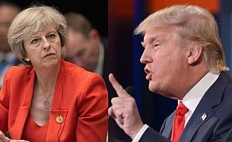 Trump, Theresa May'in Sabrını Taşırdı!
