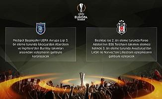 Beşiktaş ve Medipol Başakşehir'in rakipleri belli oldu