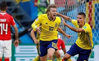İsveç, İsviçre'yi 1-0 yenerek çeyrek finale yükseldi