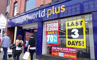 Poundworld İngiltere'deki 190 mağazasını kapatıyor