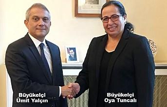 Büyükelçi Tuncalı'dan Büyükelçi Yaçın'a 'Hoşgeldiniz' Ziyareti