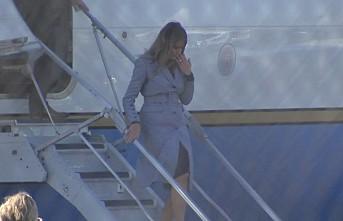 Melania Trump'ın uçağı acil iniş yaptı