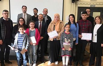 Londra'da Türkçe Kitap Okuma Yarışması'nın 'Öncü'sü 'Küçükler' Oldu