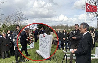 Şehitlerimiz İngiltere'de Törenle Yadedildi