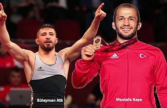 Güreşte İki Altın Adam!