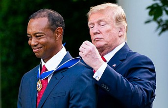 Trump Sözünü Tuttu ve Tiger Woods'a…