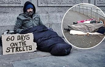 Londra'da sokakta yatan insan sayısı rekora gidiyor