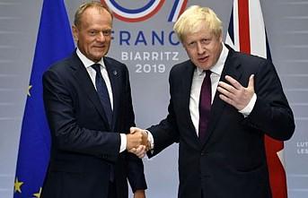 Johnson ve Tusk 'Anlaşmalı Ayrılık'ı görüştü