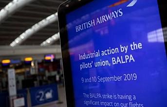 British Airways'in 4 bin pilotu ilk kez greve gitti