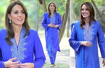 Kate Middleton, Pakistan'da şıklığı ile kendine hayran bıraktı