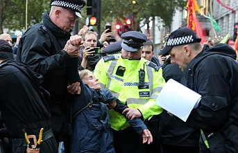 Londra'daki işgal eylemlerinde 217 gözaltı