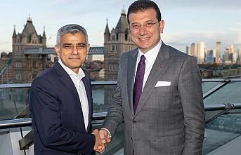 Ekrem İmamoğlu Londra Belediye Başkanı Sadık Han'la görüştü