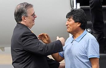 Evo Morales Meksika'da böyle karşılandı