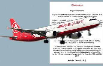 Atlasglobal Havayolları'ndan Son Dakika Açıklaması