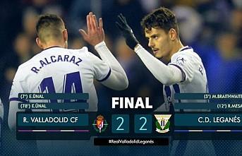 Enes Ünal'ın iki golü Valladolid'e 1 puan getirdi