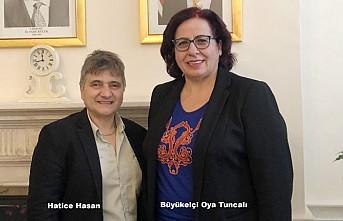 Kraliçe'den Onur Payeli Hasan'dan Büyükelçi Oya Tuncalı'ya Ziyaret