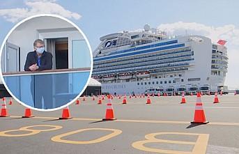Karantinaya alınan gemide endişeli bekleyiş