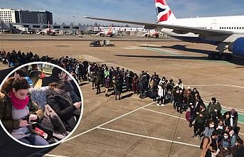 İngiltere'deki öğrenciler dönüş yolunda